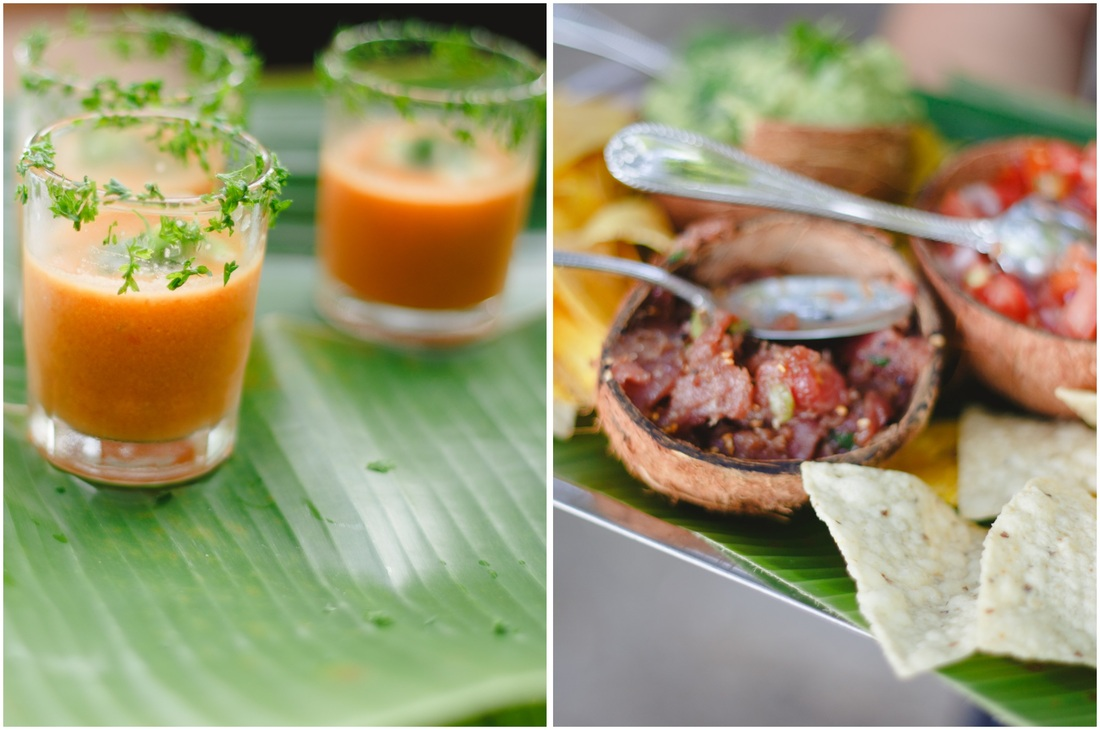 wedding food, appetizers, costa rica