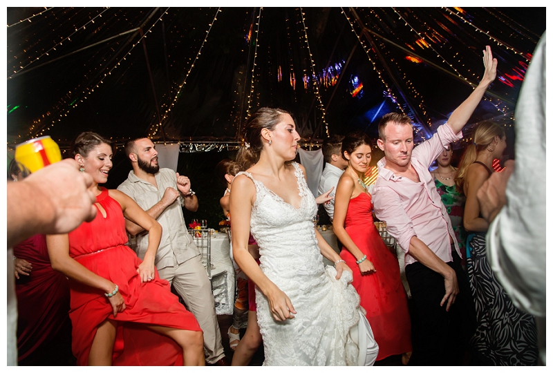 wedding reception photography, costa rica