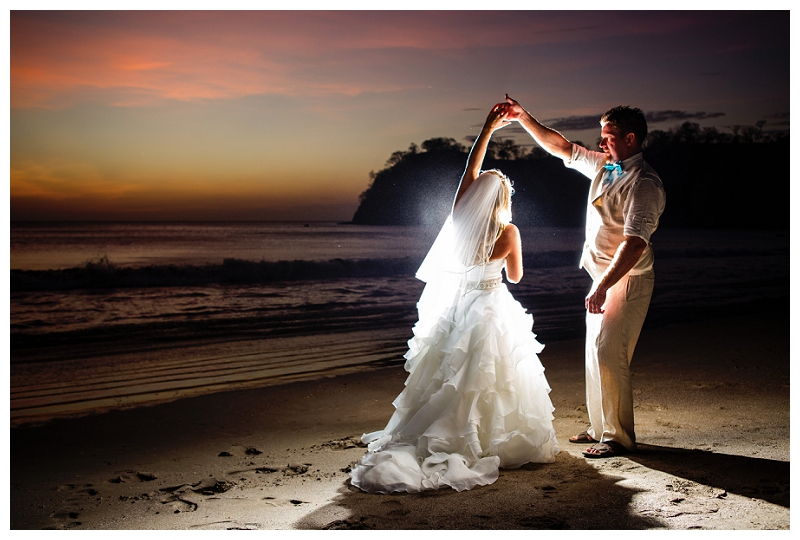 costa rica, destination, wedding, sunset