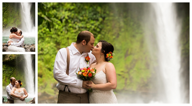 arenal, waterfall, elopement, photography