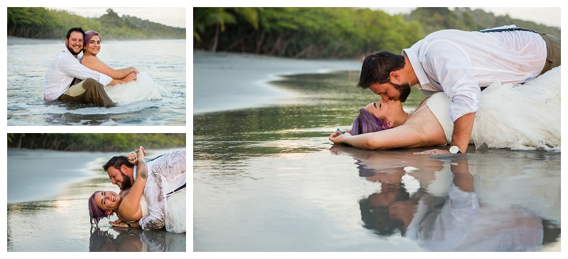 costa rica trash the dress session