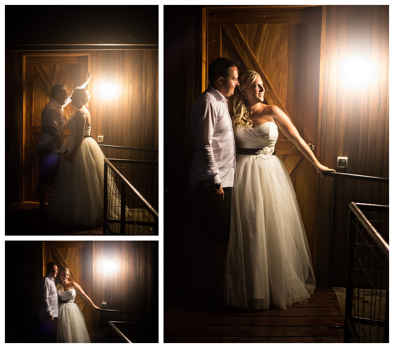 night wedding portraits, costa rica, manuel antonio