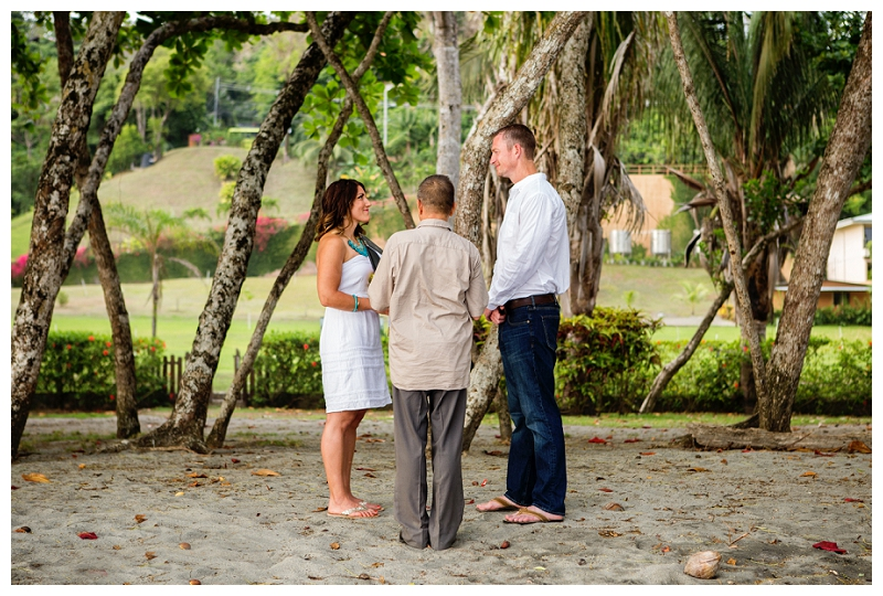 manuel antonio, beach vow renewal