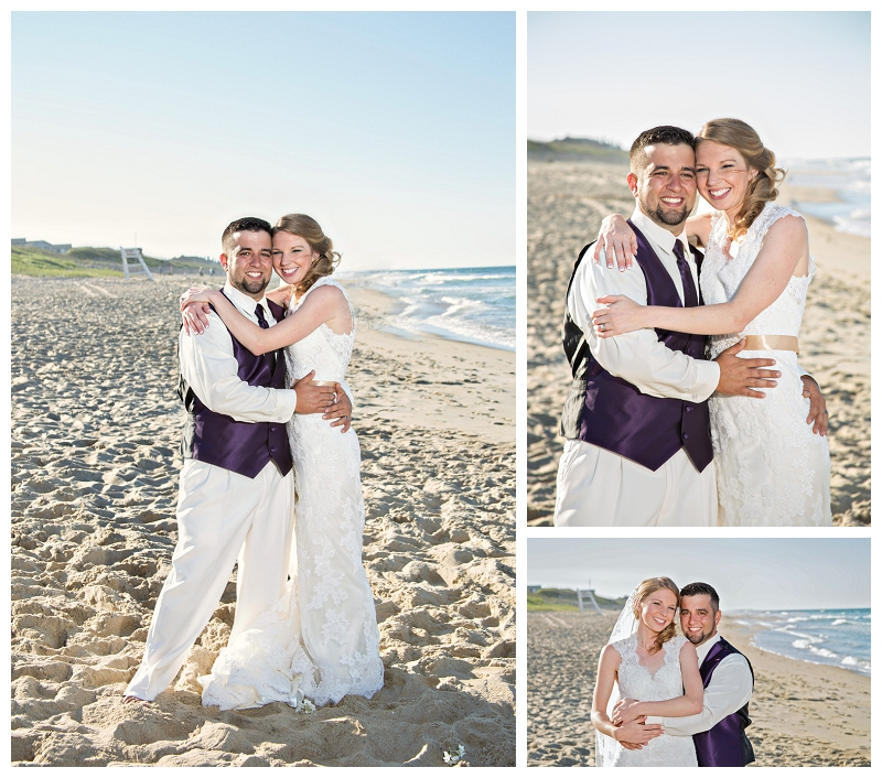 bride and groom portraits, beach portraits