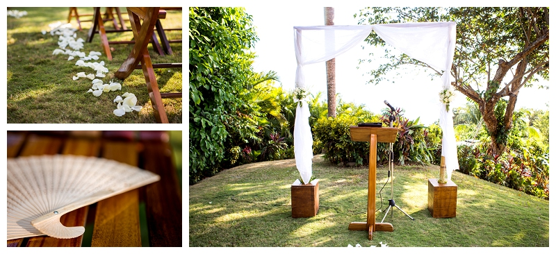 wedding ceremony, costa verde, garden
