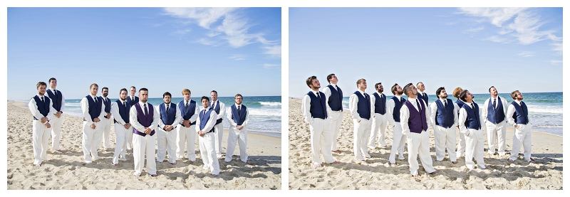 groomsmen, beach wedding, north carolina