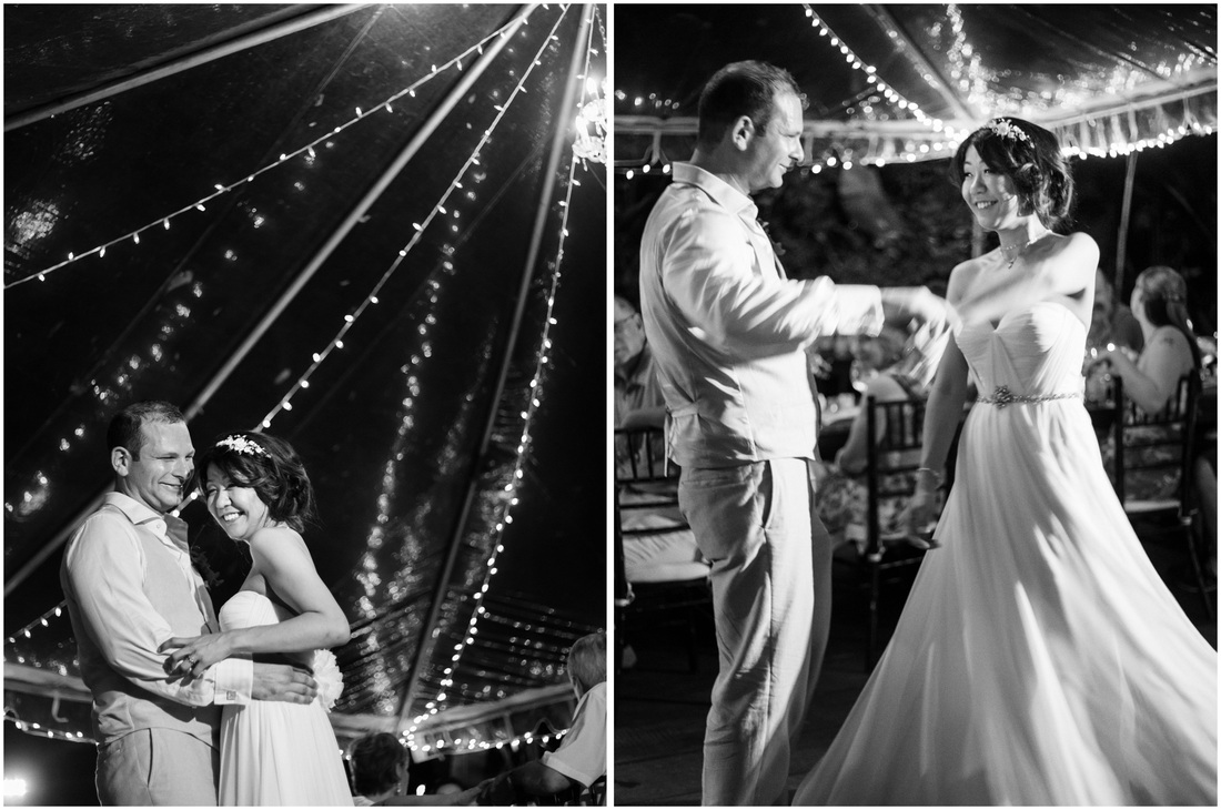 first dance, tent wedding, manuel antonio, costa rica